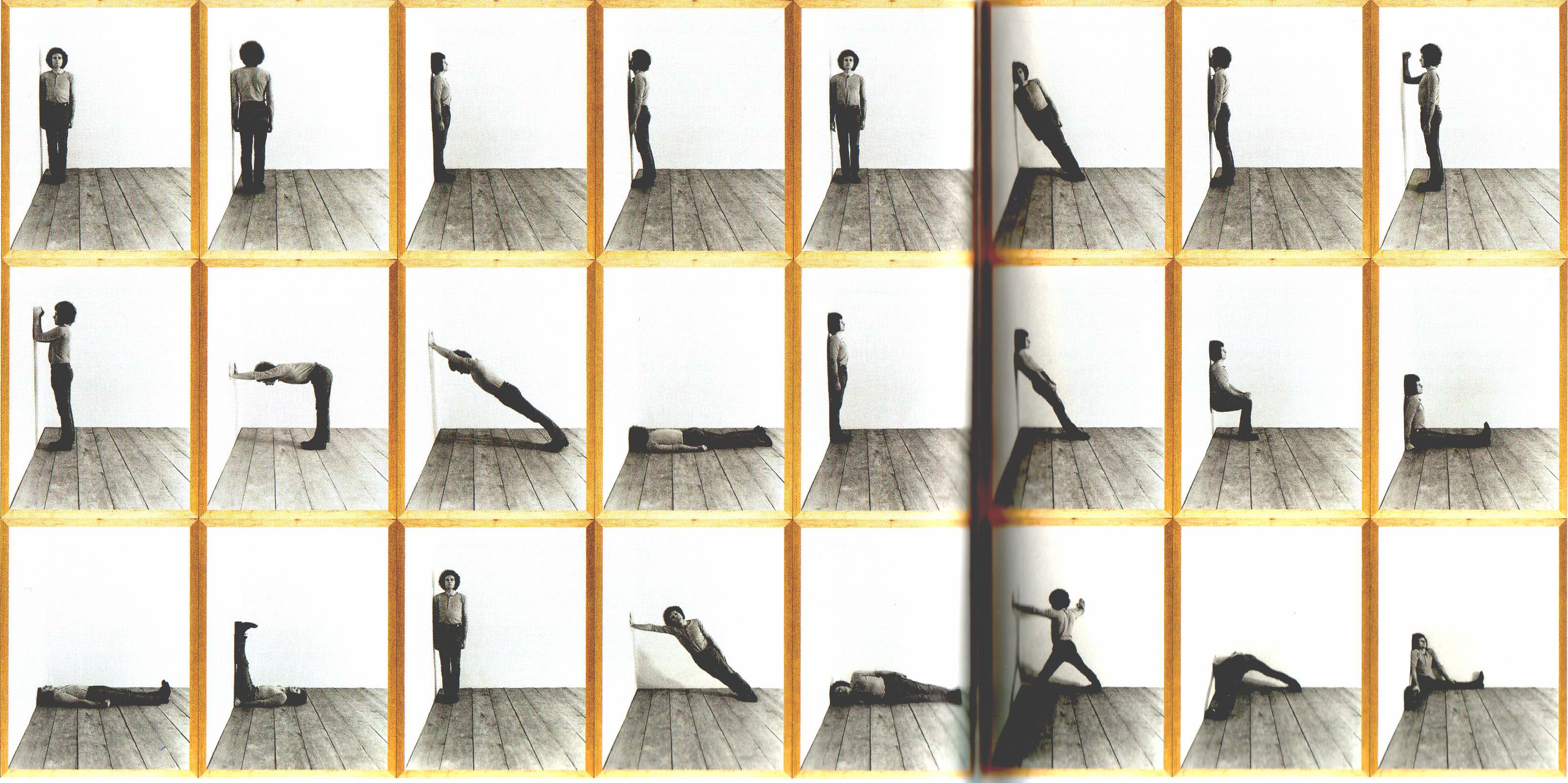 Klaus Rinke, Oden, Wand, Ecke, Raum, 1970, 24 photographies, collection MNAM, Paris